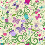 Seamless valentine vivid pattern Royalty Free Stock Photo