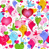 Seamless valentine vivid pattern Stock Image