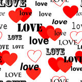 Seamless valentine wallpaper Stock Images