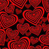 Seamlessly vector wallpaper valentine with hearts and superscription - Seamless Valentine Wallpaper Royalty Free Stock