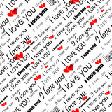 Seamless valentine wallpaper Royalty Free Stock Photography