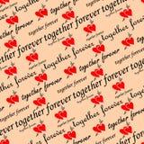 Seamless valentine wallpaper Stock Photos