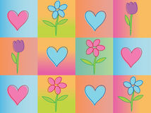 Seamless valentines background Royalty Free Stock Image