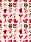 Seamless Valentines Day pattern Stock Images