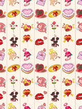 Seamless Valentines Day pattern Royalty Free Stock Photos