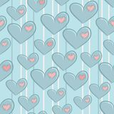 Seamless Valentines Day pattern with hearts Royalty Free Stock Images