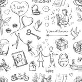 Seamless Valentines Day pattern. Royalty Free Stock Images