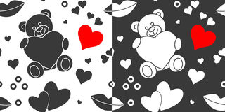 Seamless Valentines Day patterns Royalty Free Stock Photo