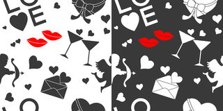 Seamless Valentines Day patterns Royalty Free Stock Images