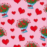 Seamless valentines hearts Royalty Free Stock Photo