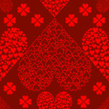 Seamless Valentines Hearts Background Stock Image