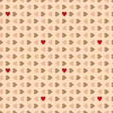 Seamless valentines hearts pattern. Stock Photos