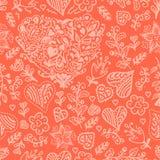 Seamless valentines pattern Royalty Free Stock Photo