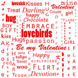 Valentines text background Stock Image