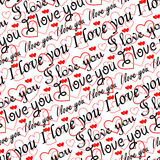 seamless valentinwallpaper Royaltyfri Foto
