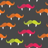 Seamless vampire mustache pattern Royalty Free Stock Photos