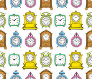 Seamless varicoloured vintage clock Royalty Free Stock Images