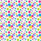 Seamless variegated polka dot pattern. Royalty Free Stock Images