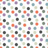 Seamless variegated polka dot pattern. Vector, EPS10 stock illustration