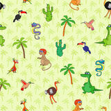 Seamless various animal pattern Stock Photo