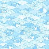 Seamless vattenfiskmodell Arkivbilder