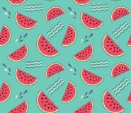seamless vattenmelon för modell Royaltyfri Illustrationer