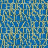 seamless vect för alfabetgrunge Royaltyfri Fotografi
