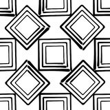 Seamless vector abstract background hand drawn squares. Seamless vector abstract background hand drawn effect squares Royalty Free Stock Photography