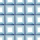 Seamless vector abstract background hand drawn squares. Seamless vector abstract background hand drawn effect squares blue Stock Photo