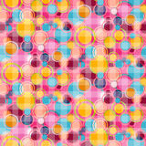 Seamless Vector Abstract Bubbles Circle Pattern Royalty Free Stock Images