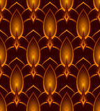 Seamless Vector Abstract Candle Pattern.  Royalty Free Stock Photography