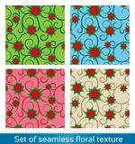 Seamless vector abstract flowers pattern. Stock Photos