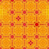 Seamless vector abstract geometric pattern in vivid orange red and yellow vector illustration