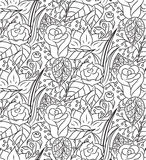 Seamless vector abstract hand-drawn floral texture Royalty Free Stock Photo
