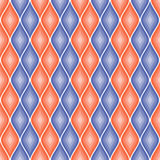 Seamless vector abstract pattern. Blue and red  symmetrical geometric repeating background with decorative rhombus. Royalty Free Stock Photography