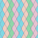 Seamless vector abstract pattern. Colorful symmetrical geometric repeating background with decorative rhombus Stock Photography