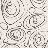 Seamless vector abstract pattern of curled circles. Seamless vector abstract pattern of curled lines of different thickness Stock Photos