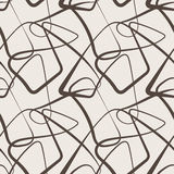 Seamless vector abstract pattern of curled lines Stock Image