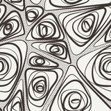 Seamless vector abstract pattern of curled lines Royalty Free Stock Image