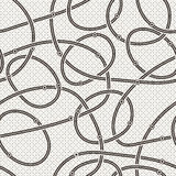 Seamless vector abstract pattern of curled lines Royalty Free Stock Photos