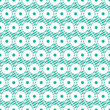 Seamless vector abstract pattern. Geometric symmetrical repeating background in blue colors. Royalty Free Stock Photos