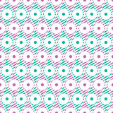 Seamless vector abstract pattern. Geometric symmetrical repeating background in pink and green colors Stock Image