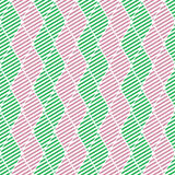 Seamless vector abstract pattern. Green and pink symmetrical geometric repeating background with decorative rhombus Stock Photography