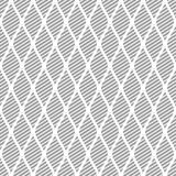 Seamless vector abstract pattern. Grey symmetrical geometric repeating background with decorative rhombus Royalty Free Stock Photo