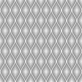 Seamless vector abstract pattern. Grey symmetrical geometric repeating background with decorative rhombus. Stock Image