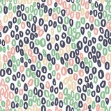 Seamless vector abstract pattern with rounds on white. For textile, fabric, craft, mugs Stock Photos