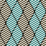 Seamless vector abstract pattern. symmetrical geometric repeat background with decorative rhombus. Simle print, graphic design for web backgrounds, wallpaper Stock Images