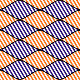 Seamless vector abstract pattern. symmetrical geometric repeating background with decorative rhombus. Simle graphic design for web. Backgrounds, wrapping Stock Image