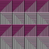 Seamless vector abstract pattern. symmetrical geometric repeating background with decorative rhombus, triangles. Simle graphic des. Ign for web backgrounds Royalty Free Stock Photography
