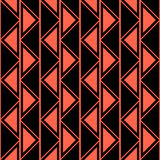 Seamless vector abstract pattern. symmetrical geometric repeating background with decorative triangles. Simle graphic design for w. Eb backgrounds, wallpaper Stock Images